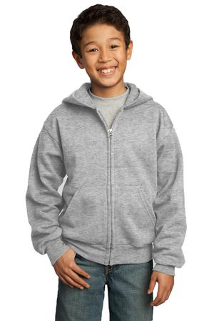 Port & Company - Youth Full-Zip Hooded Sweatshirt Style PC90YZH