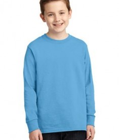 Port & Company Youth Long Sleeve 5.4-oz 100% Cotton T-Shirt Style PC54YLS