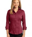 Red House Ladies 3/4-Sleeve Nailhead Non-Iron Button-Down Shirt Style RH69