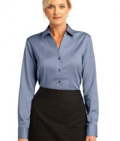 Red House - Ladies French Cuff Non-Iron Pinpoint Oxford Style RH63