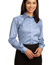 Red House - Ladies Non-Iron Pinpoint Oxford Style RH25