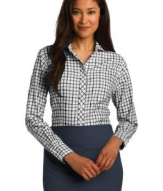 Red House Ladies Tricolor Check Non-Iron Shirt Style RH75