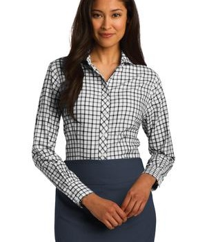 Red House Ladies Tricolor Check Non-Iron Shirt Style RH75 1