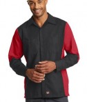 Red Kap Long Sleeve Ripstop Crew Shirt Style SY10