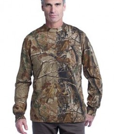 Russell Outdoors Realtree Long Sleeve Explorer 100% Cotton T-Shirt with Pocket Style S020R