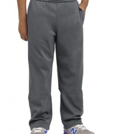 Sport-Tek YST237 Youth Sport Wick Fleece Pant Dark Smoke Grey