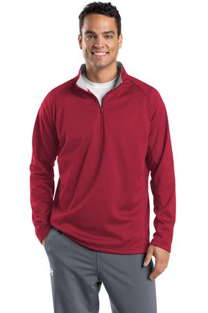 Sport-Tek F243 Sport-Wick 1/4-Zip Fleece Pullover Deep Red/Silver