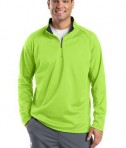 Sport-Tek F243 Sport-Wick 1/4-Zip Fleece Pullover Lime Shock/Black