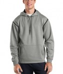 Sport-Tek F246 Tech Fleece Hooded Sweatshirt Grey Heather/Black