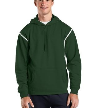 Sport-Tek F246 Tech Fleece Hooded Sweatshirt Forest Green/White