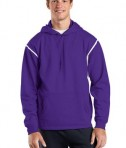Sport-Tek F246 Tech Fleece Hooded Sweatshirt Purple/White