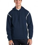 Sport-Tek F246 Tech Fleece Hooded Sweatshirt True Navy/White