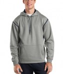 Sport-Tek F246 Tech Fleece Hooded Sweatshirt Grey Heather/True Navy