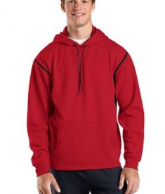 Sport-Tek F246 Tech Fleece Hooded Sweatshirt True Red/Black