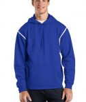 Sport-Tek F246 Tech Fleece Hooded Sweatshirt True Royal/White