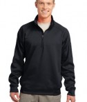 Sport-Tek F247 Tech Fleece 1/4-Zip Pullover Black