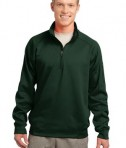 Sport-Tek F247 Tech Fleece 1/4-Zip Pullover Forest Green