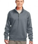 Sport-Tek F247 Tech Fleece 1/4-Zip Pullover Grey Heather