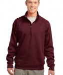 Sport-Tek F247 Tech Fleece 1/4-Zip Pullover Maroon