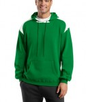 Sport-Tek F264 Pullover Hooded Sweatshirt with Contrast Color Kelly Green