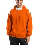 Sport-Tek F264 Pullover Hooded Sweatshirt with Contrast Color Orange