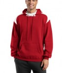 Sport-Tek F264 Pullover Hooded Sweatshirt with Contrast Color Red