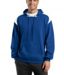 Sport-Tek F264 Pullover Hooded Sweatshirt with Contrast Color Royal