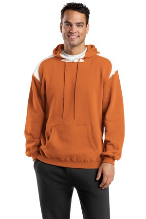Sport-Tek F264 Pullover Hooded Sweatshirt with Contrast Color Texas Orange