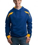 Sport-Tek F266 Color-Spliced Pullover Hooded Sweatshirt Athletic Gold/True Royal