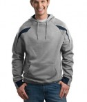 Sport-Tek F266 Color-Spliced Pullover Hooded Sweatshirt Athletic Heather/Navy