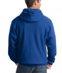 Sport-Tek F281 Heavyweight Pullover Hooded Sweatshirt Royal Back