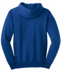 Sport-Tek F281 Heavyweight Pullover Hooded Sweatshirt Royal Flat Back