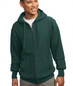 Sport-Tek F282 Super Heavyweight Full-Zip Hooded Sweatshirt Dark Green