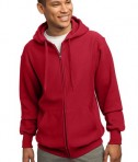 Sport-Tek F282 Super Heavyweight Full-Zip Hooded Sweatshirt Red