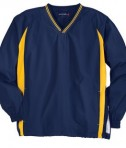 Sport-Tek JST62 Tipped V-Neck Raglan Wind Shirt True Navy/Gold