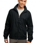 Sport-Tek JST70 Full-Zip Wind Jacket Black