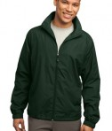 Sport-Tek JST70 Full-Zip Wind Jacket Forest Green