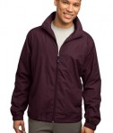 Sport-Tek JST70 Full-Zip Wind Jacket Maroon