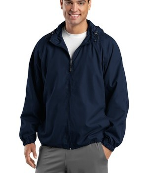 Sport-Tek JST73 Hooded Raglan Jacket True Navy