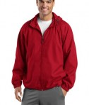 Sport-Tek JST73 Hooded Raglan Jacket True Red
