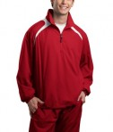 Sport-Tek JST75 1/2-Zip Wind Shirt True Red/White