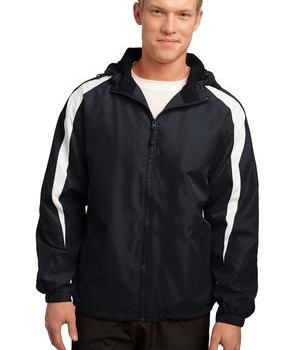 Sport-Tek JST81 Fleece-Lined Colorblock Jacket Black/White
