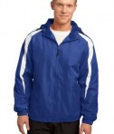 Sport-Tek JST81 Fleece-Lined Colorblock Jacket True Royal/White