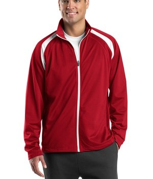 Sport-Tek JST90 Tricot Track Jacket True Red/White