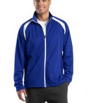 Sport-Tek JST90 Tricot Track Jacket True Royal/White
