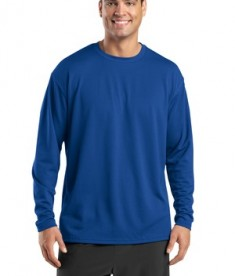 Sport-Tek K368 Dri-Mesh Long Sleeve T-Shirt Royal