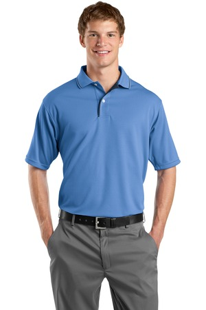 Sport-Tek K467 Dri-Mesh Polo with Tipped Collar and Piping Blueberry/Navy
