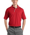 Sport-Tek K467 Dri-Mesh Polo with Tipped Collar and Piping Red/White