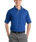 Sport-Tek K467 Dri-Mesh Polo with Tipped Collar and Piping Royal/White