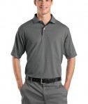 Sport-Tek K467 Dri-Mesh Polo with Tipped Collar and Piping Steel/Black